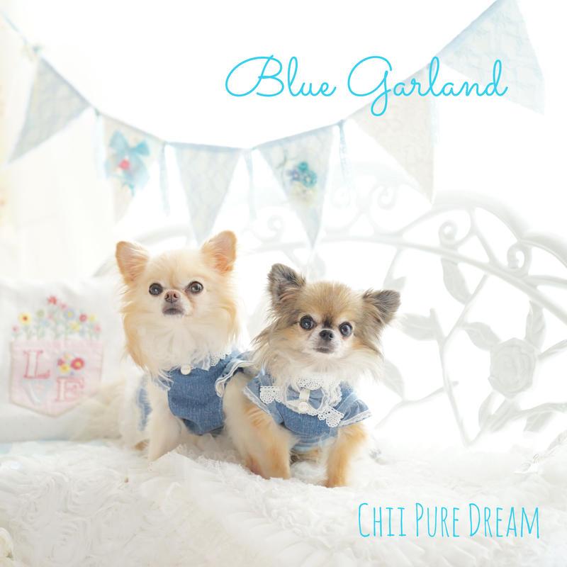 Blue lace Garland
