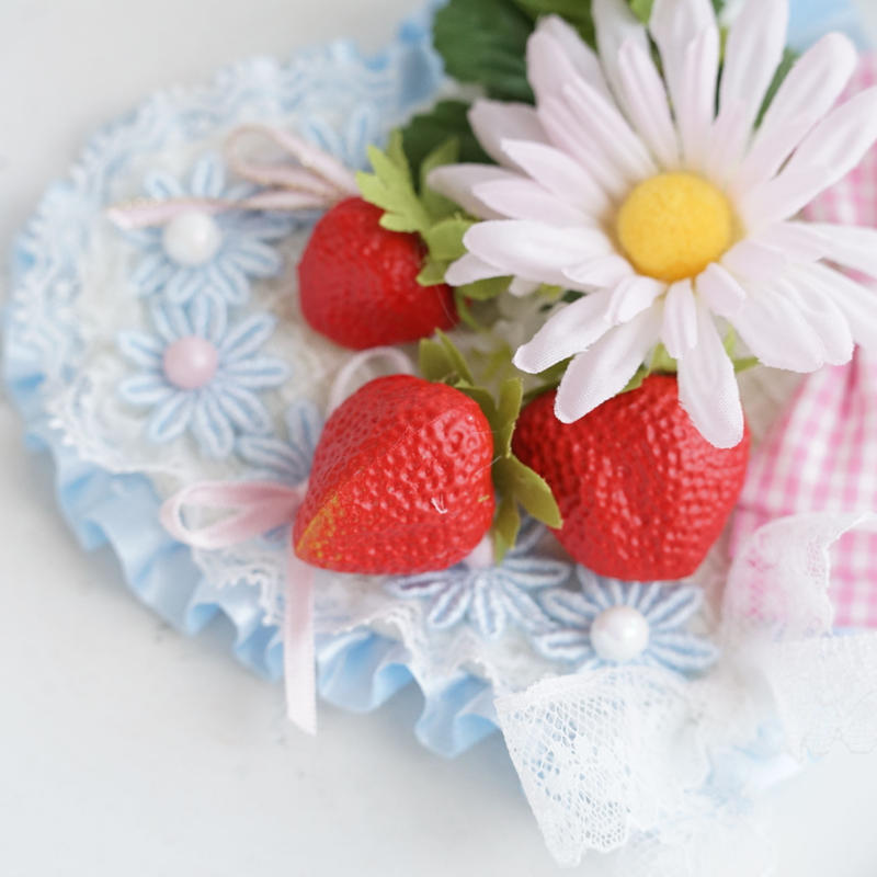 DAISY strawberry heart blue