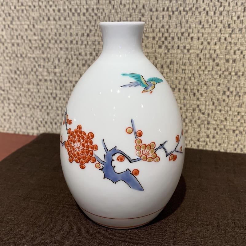 梅鳥文徳利(13代 酒井田柿右衛門窯)/ 190516-14
