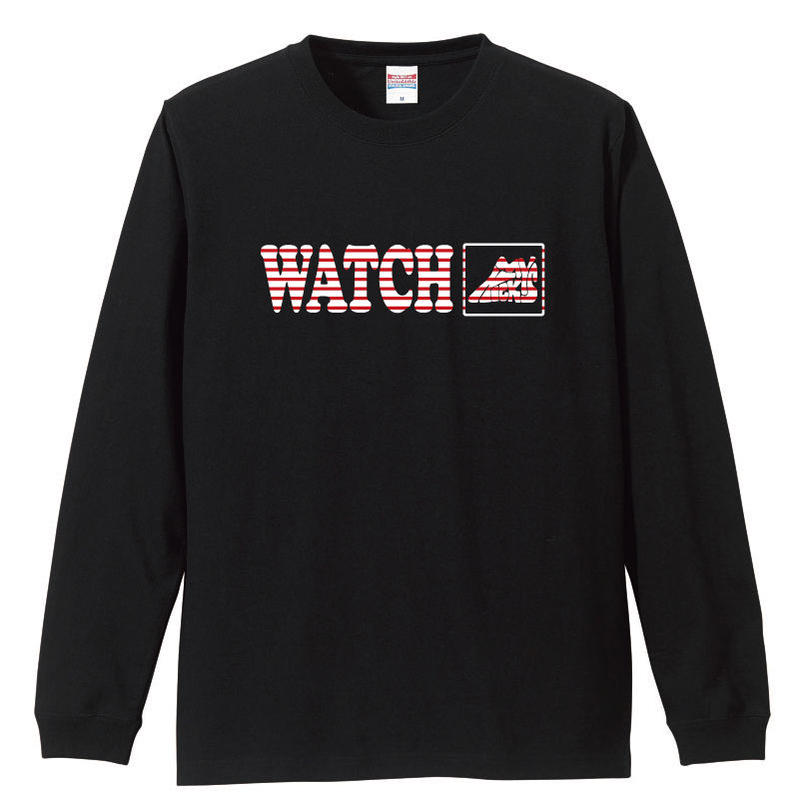 "WATCH MY KICKS  L/S tee ""Don't worry"" BLK"