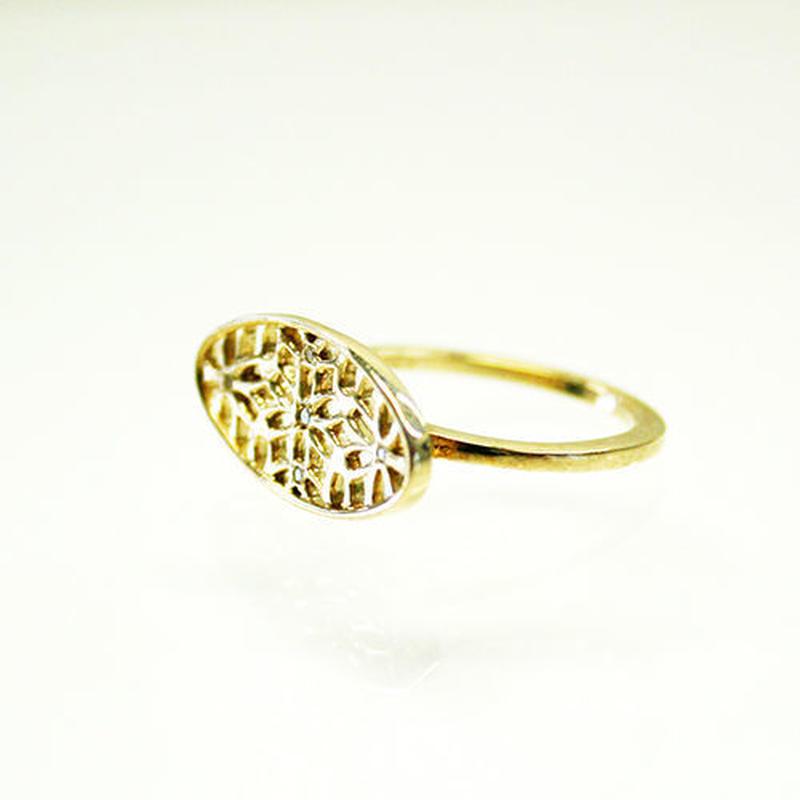 K10/【ASANOHA / 麻の葉】ダイヤリング(R10083Y)