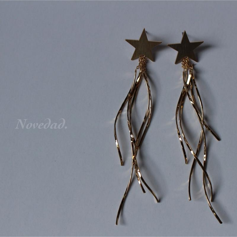wave tassel STAR pierce/earring