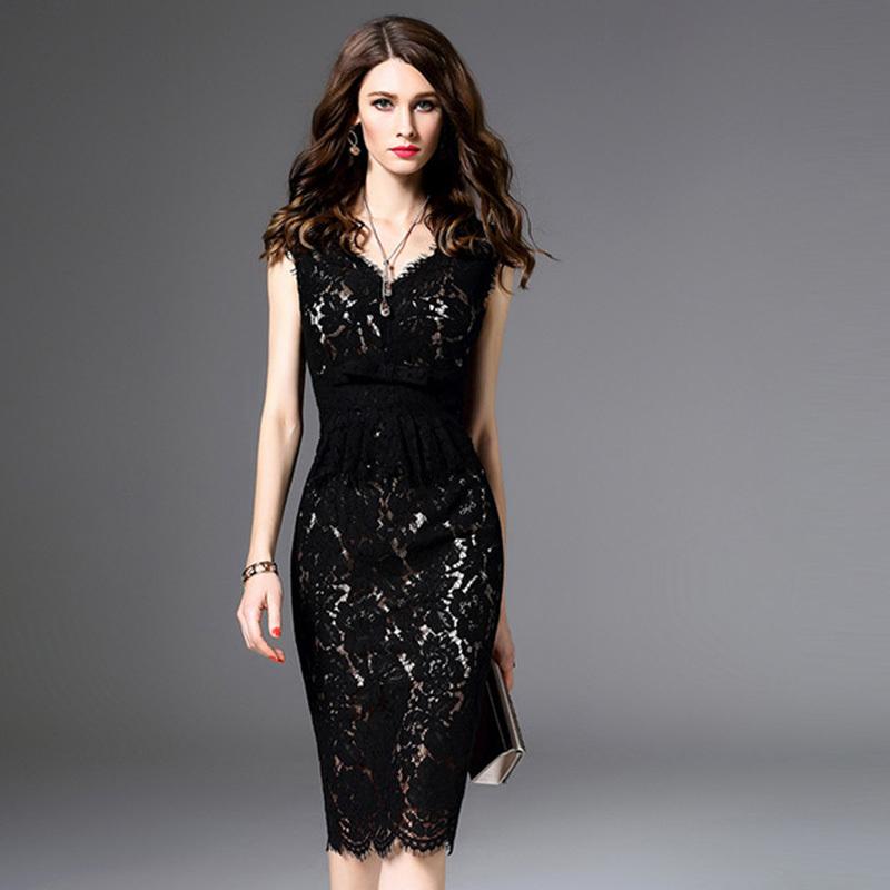 パーティードレス 結婚式 二次会 ワンピース 結婚式ドレス お呼ばれワンピース 20代 30代 40代 ひざ丈 黒 レース 刺繍 花柄