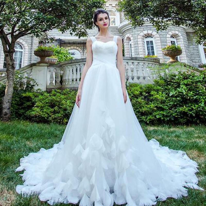 ウエディングドレス ロングドレス 着痩せ パーティードレス 結婚式 披露宴  舞台衣装 花嫁 レース オフショルダー