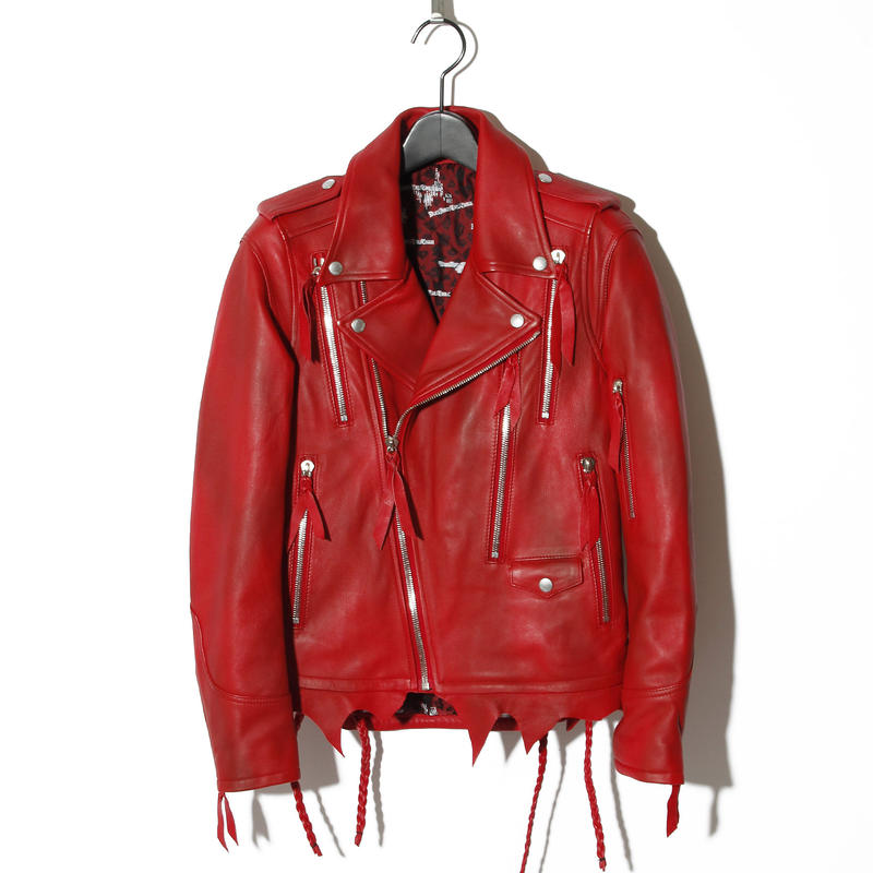Zip Leather Rider's / RED 2902304