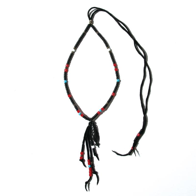 Peacock Feather Beads Necklace / BLACK 2902713