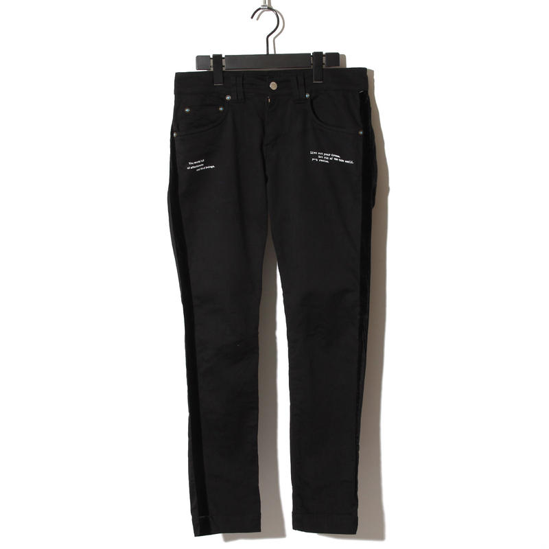 Pocket Python Black Skinny Pants / BLACK 2902403