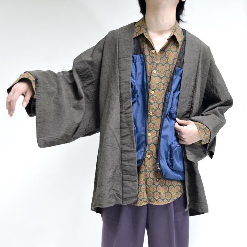 kimono coat / green [T-0074]