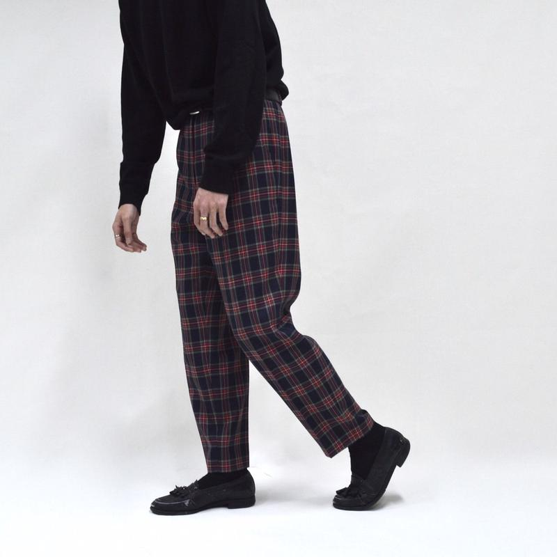 plaid check tapered pants / for ladies [P-0031]