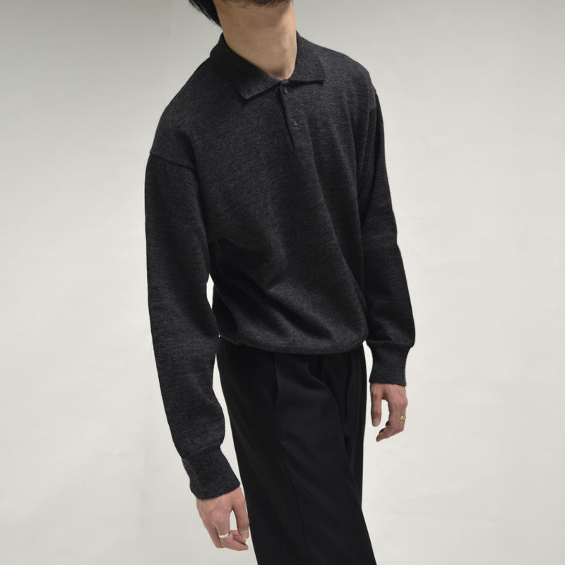 COMME des GARÇONS - Long Sleeve Polo Knit [T-0005]