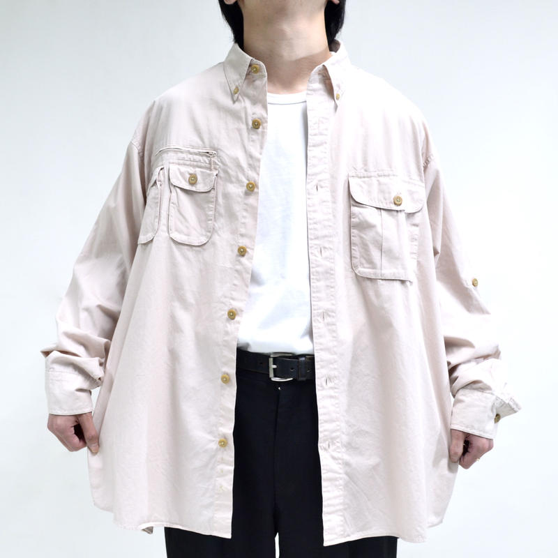 multi pocket design mesh shirts  [T-0064]