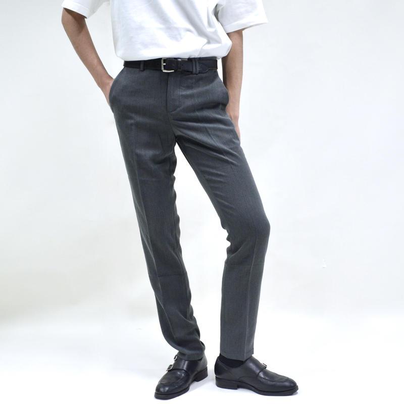 super slim straight pant / gray [P-0041]