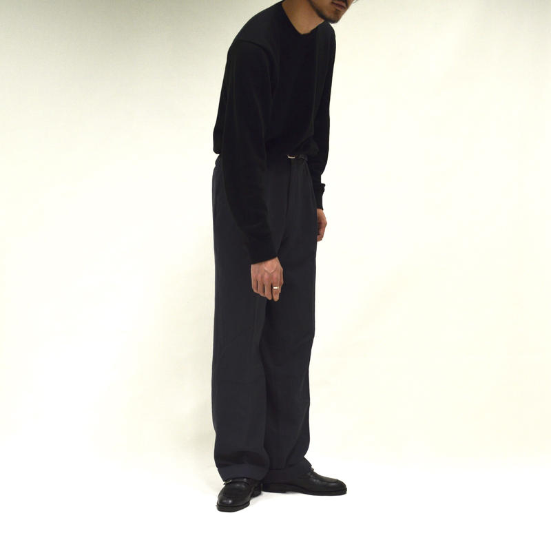 2-tuck high-west  slacks / gray[P-0018]
