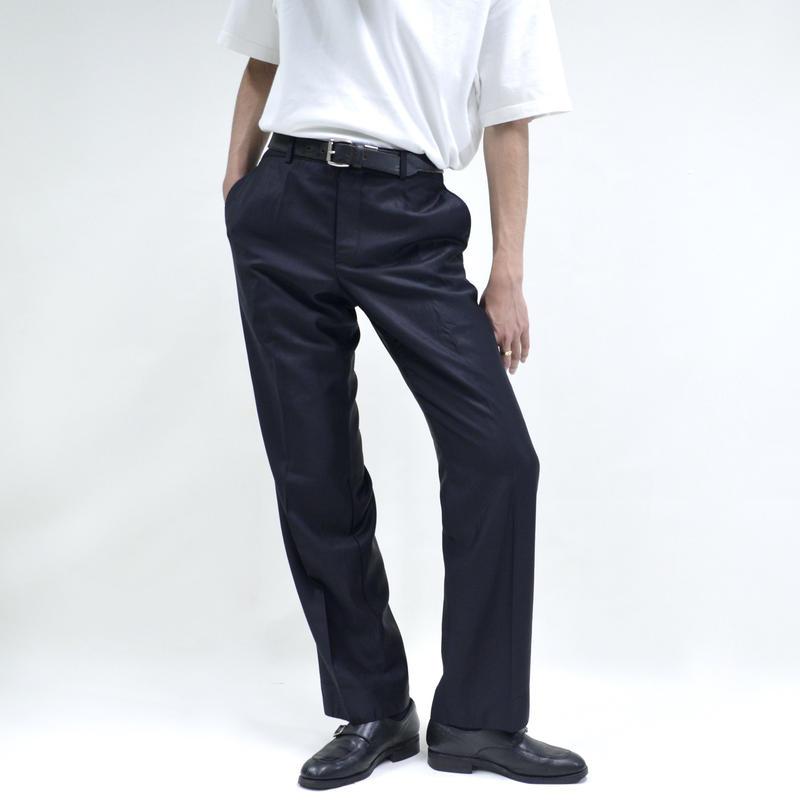 gloss design slim straight pants / black [P-0037]
