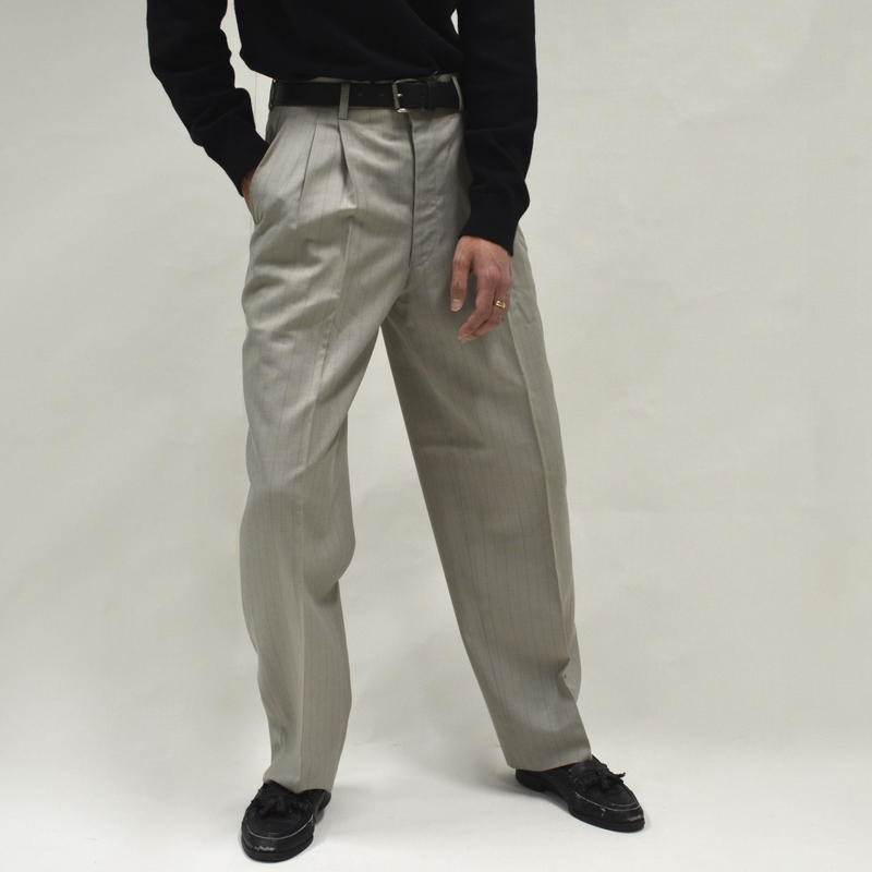Wide Stripe Slacks [P-0010]