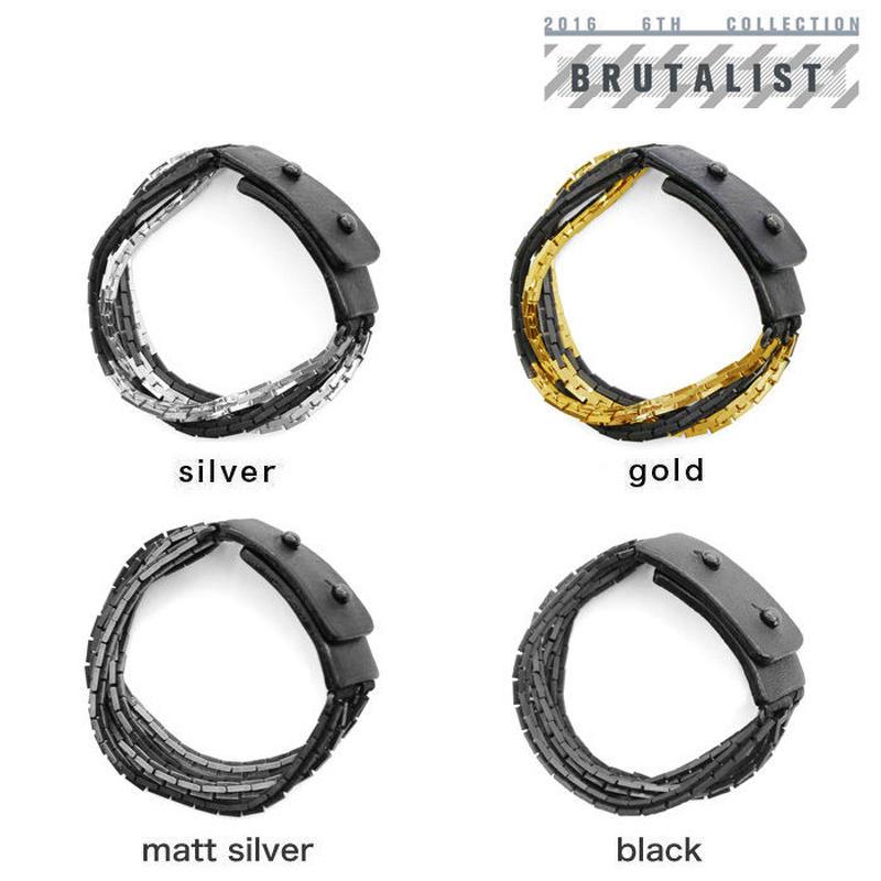 2 TONE BLOCK CHAIN bracelet