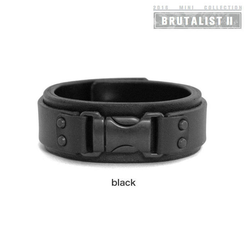 FASTEX buckle leather bracelet(black)