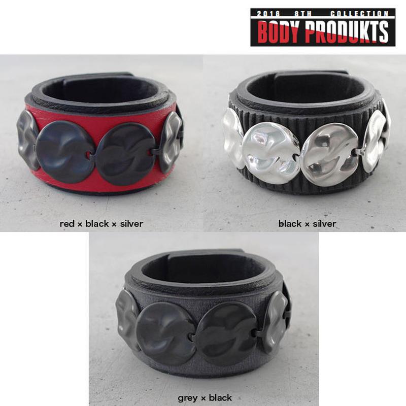 CIRCLE PLATE leather bracelet