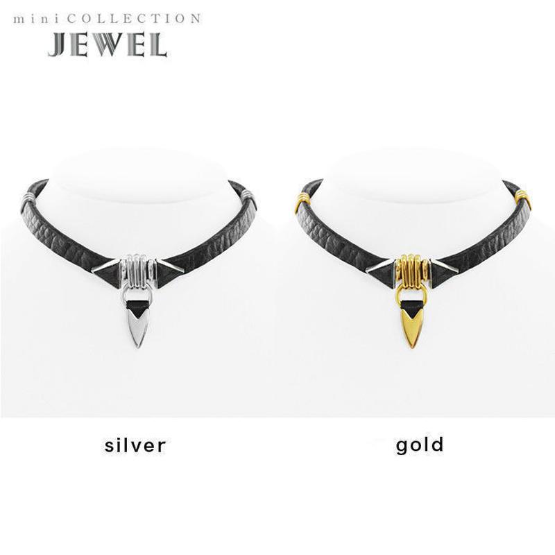 TUSK jewel choker (black × black)