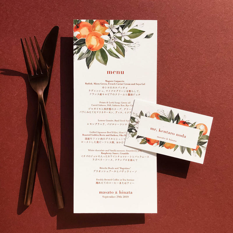10部   menu   orange