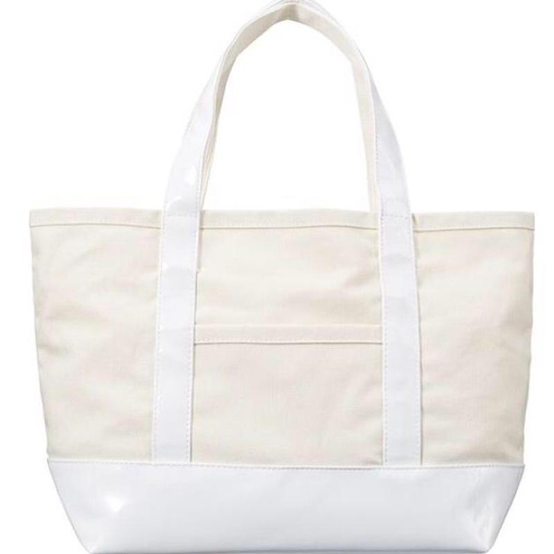 エナメル×帆布トートバッグ WHITE