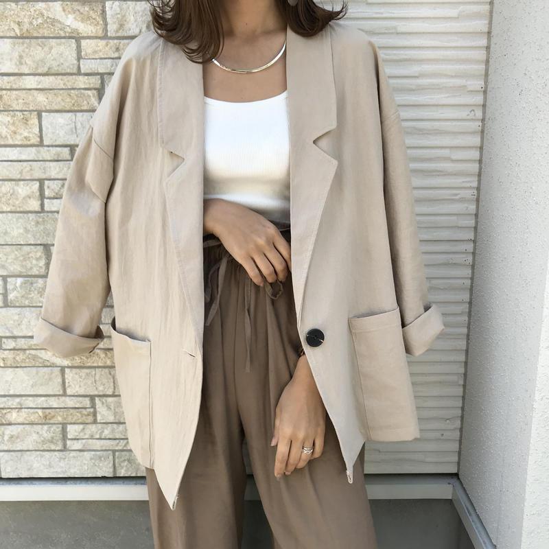 cotton100%リネン調ジャケット