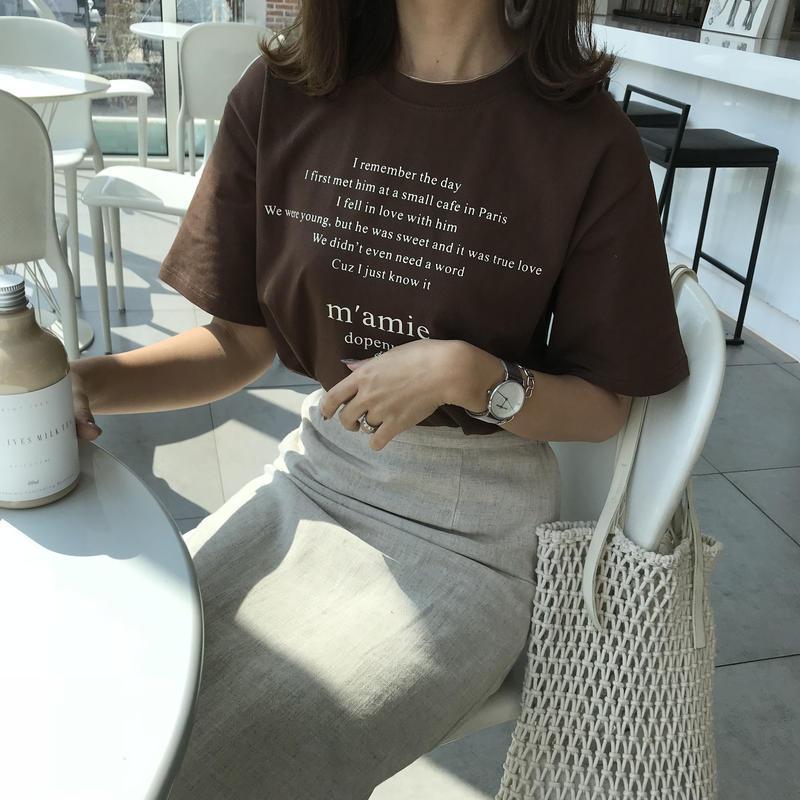 m.amieロゴTシャツ