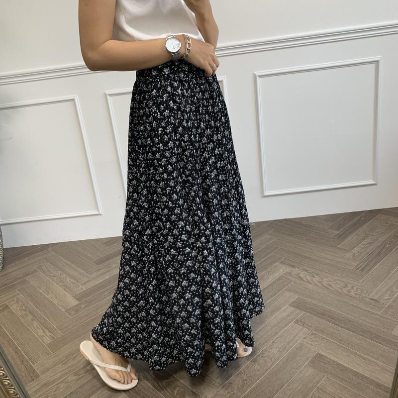 フラワープリーツフレアスカート