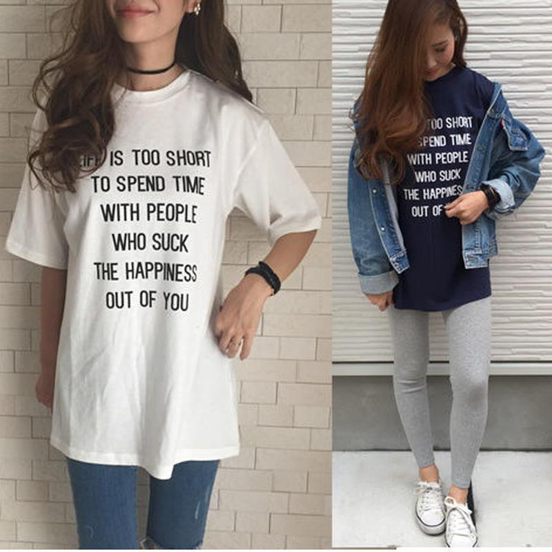 ハイネックロゴロングTシャツ