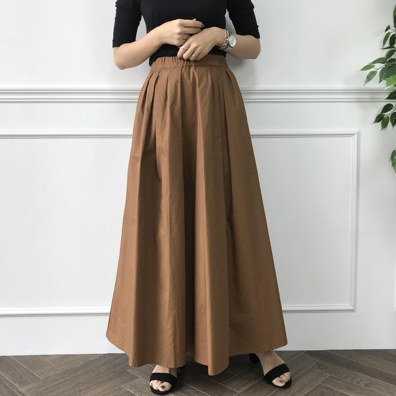 cotton100%キャメルマキシスカート