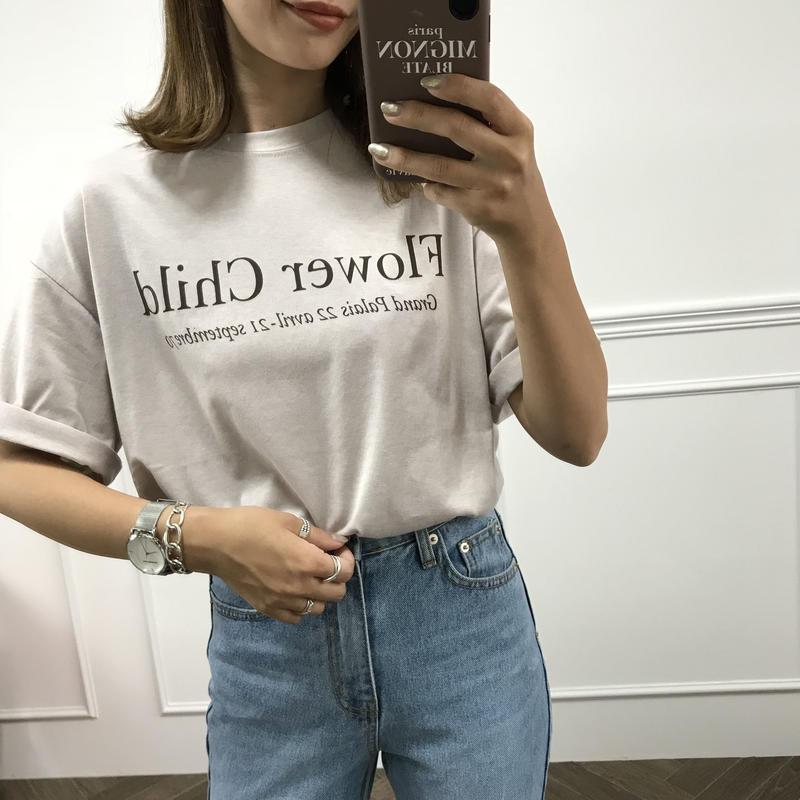 グレージュロゴTシャツ