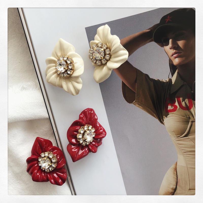 【Earring】Vintage Flower