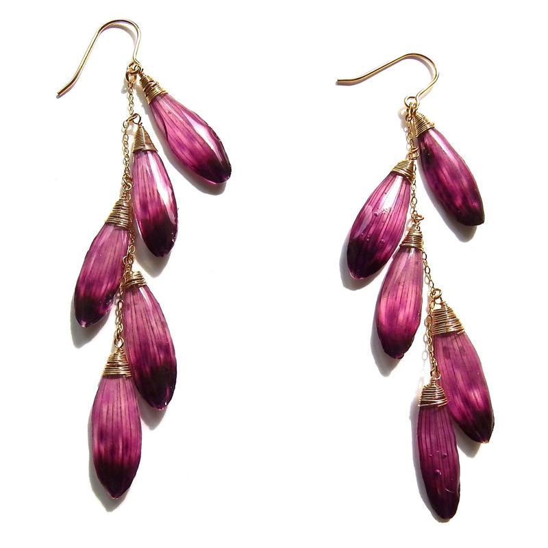 ガーベラピアス(紫)DASY EARRING(PURPLE)