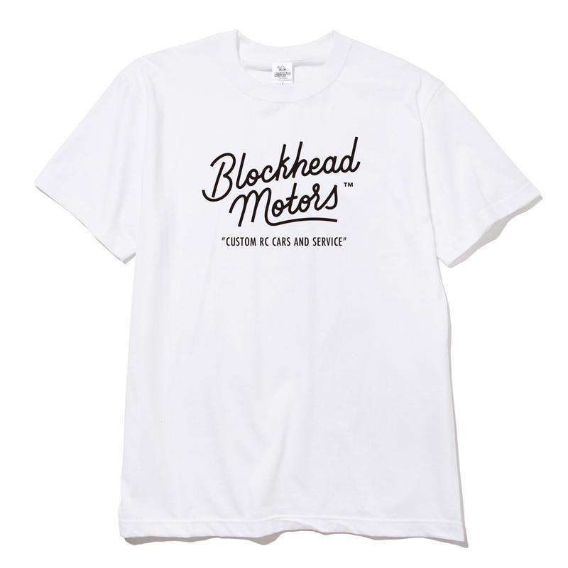 Letter Boy x BLOCKHEAD MOTORS ロゴTシャツ(ホワイト)