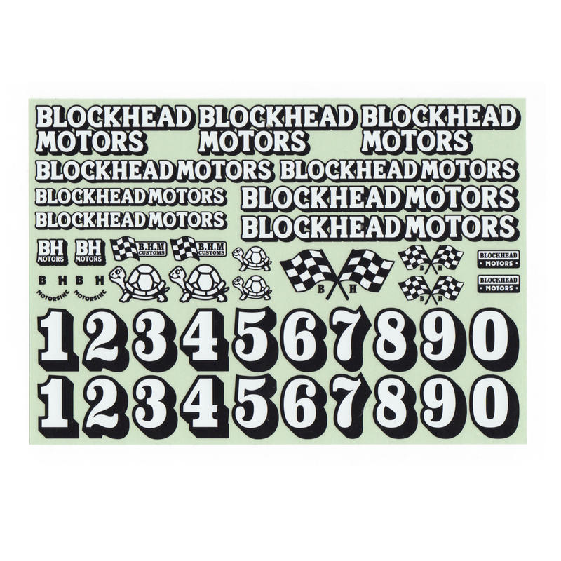 BLOCKHEAD MOTORS オリジナルデカールシート Ver.2 / Original decal sheet Ver.2