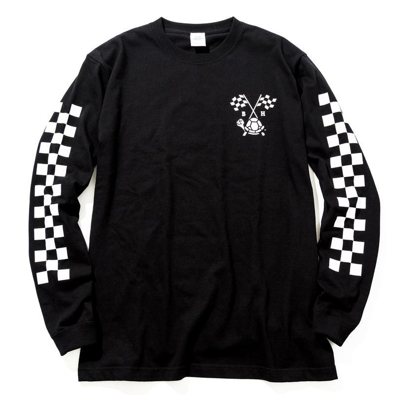 BLOCKHEAD MOTORS ロングスリーブTシャツ(ブラック)/ LONG SLEEVE TSHIRT BLACK