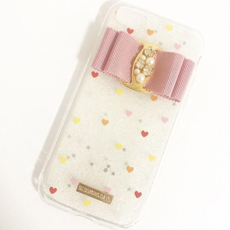 【iPhone6plus/6splus】ピンクリボンハートケース