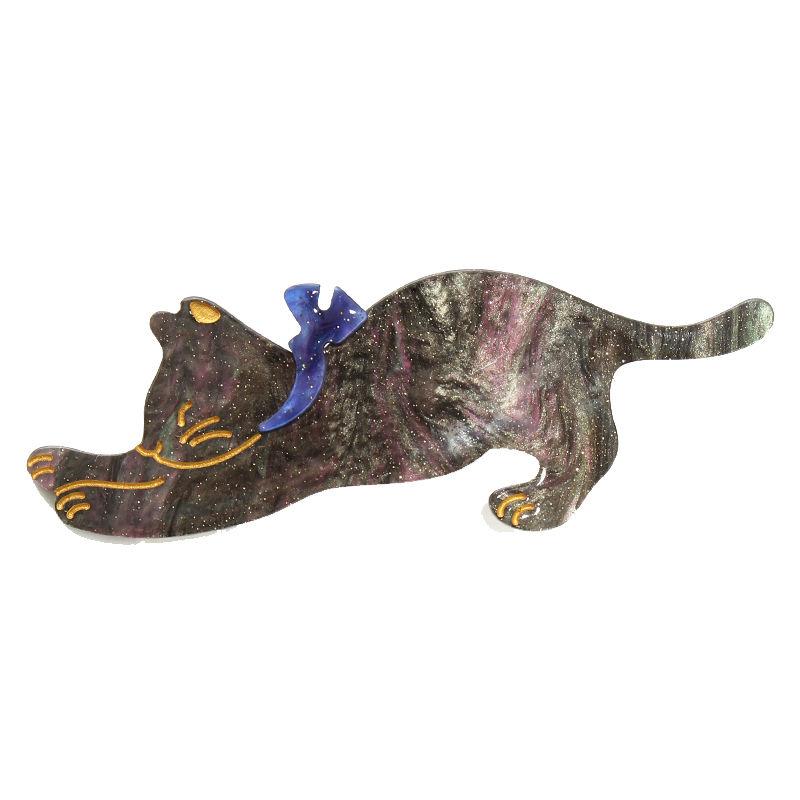 猫ちゃんクリップ【ブラック】