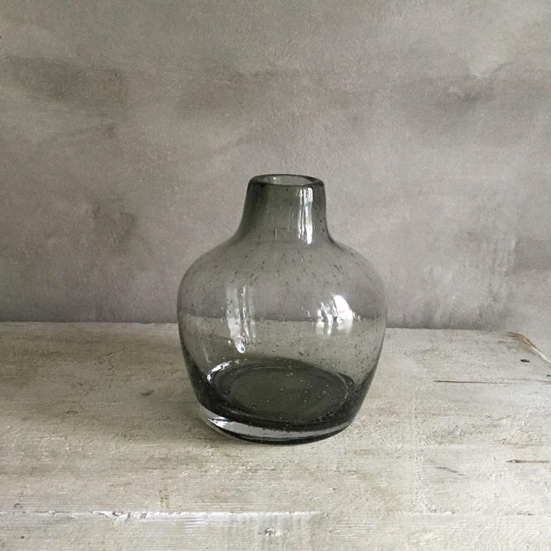 Bubble Glass Flower Vase Balloon S  (バブルグラス フラワーベース・バルーン S )