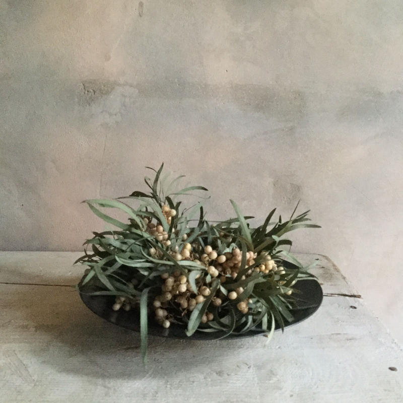 Dried Frower Mini Wreath With Iron Plate Type B (アイアンプレート付きミニリース B)