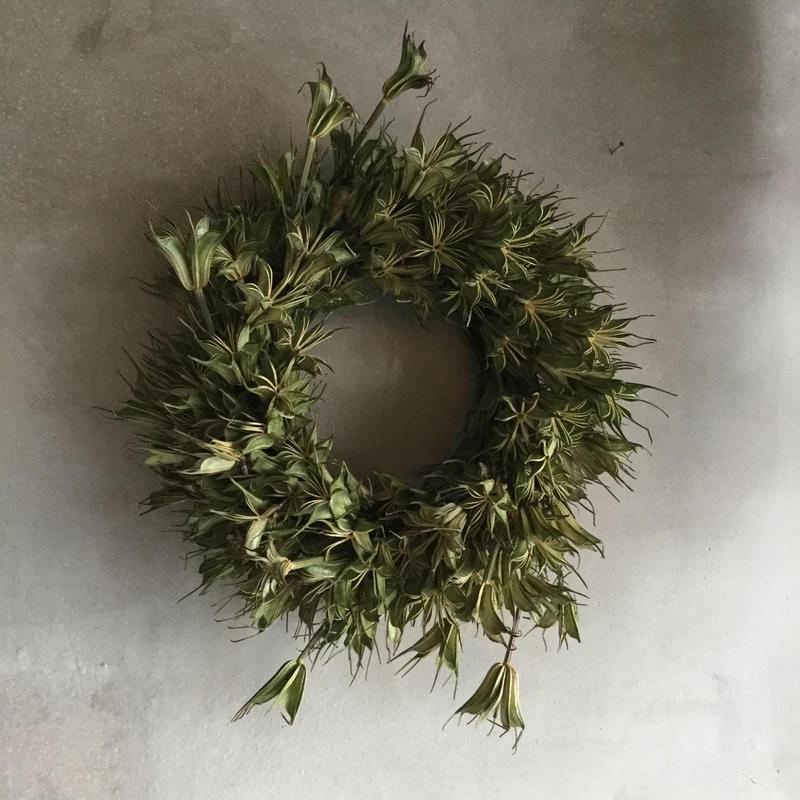 Dried Nigella Flower Wreath (ニゲラの実のドライリース)