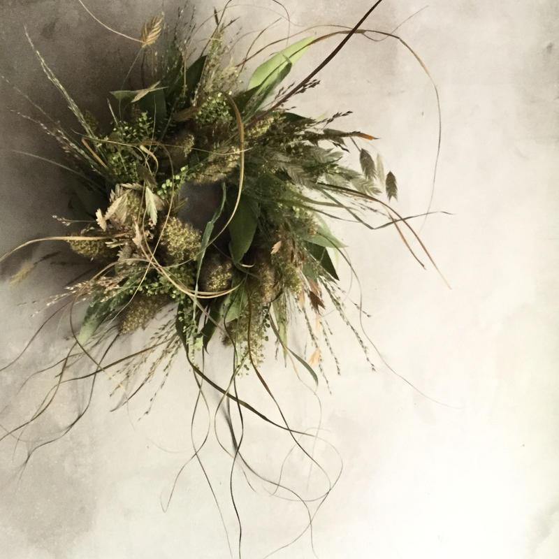 Dried Wheat Grain Wreath Reissue(雑穀のドライリース・リイシュー)