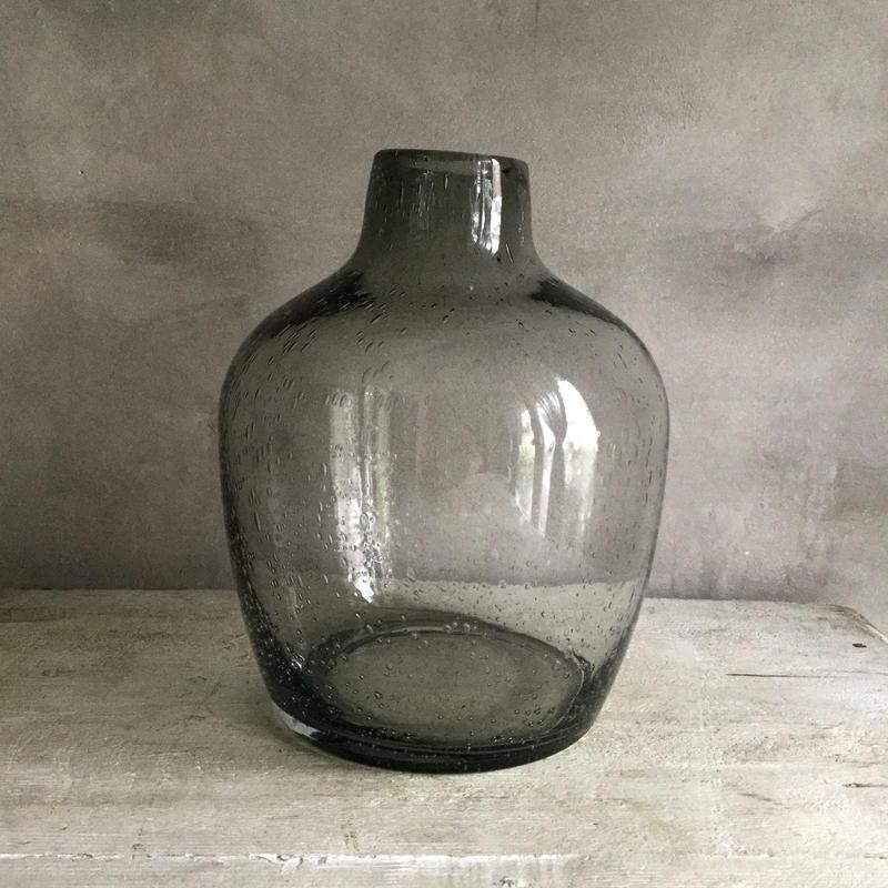 Bubble Glass Flower Vase Balloon L  (バブルグラス フラワーベース・バルーンL )
