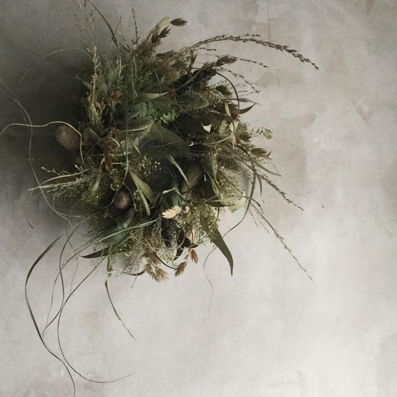 Dried Wheat Grain Wreath (雑穀のドライリース)
