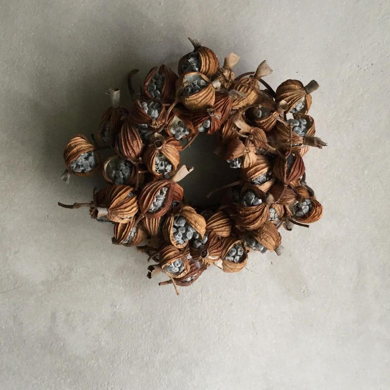 Dried Gettou Mini Wreath (月桃のミニリース)