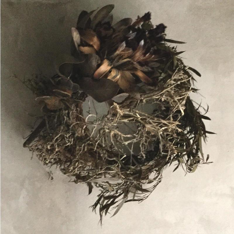 Tree Bush & Protea Niobe Wreath (ツリーブッシュとプロテア・ニオべのリース)