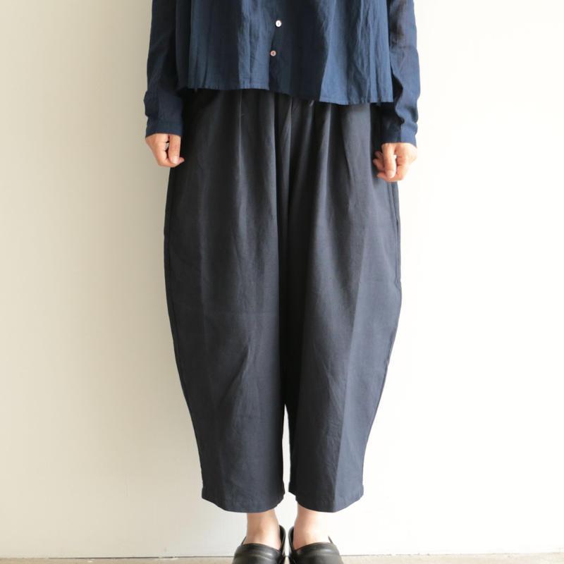Khadi and Co / wide pants (lady's /DK.INDIGO)