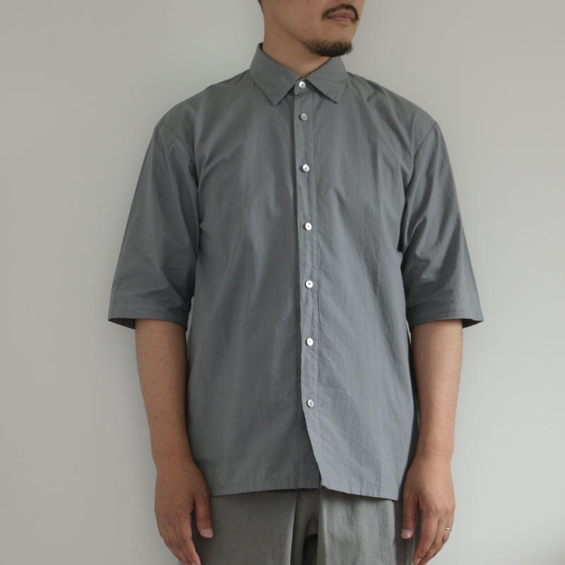 COSMIC WONDER /Organic cotton shirt with scarf(men's /GRAY MOON)