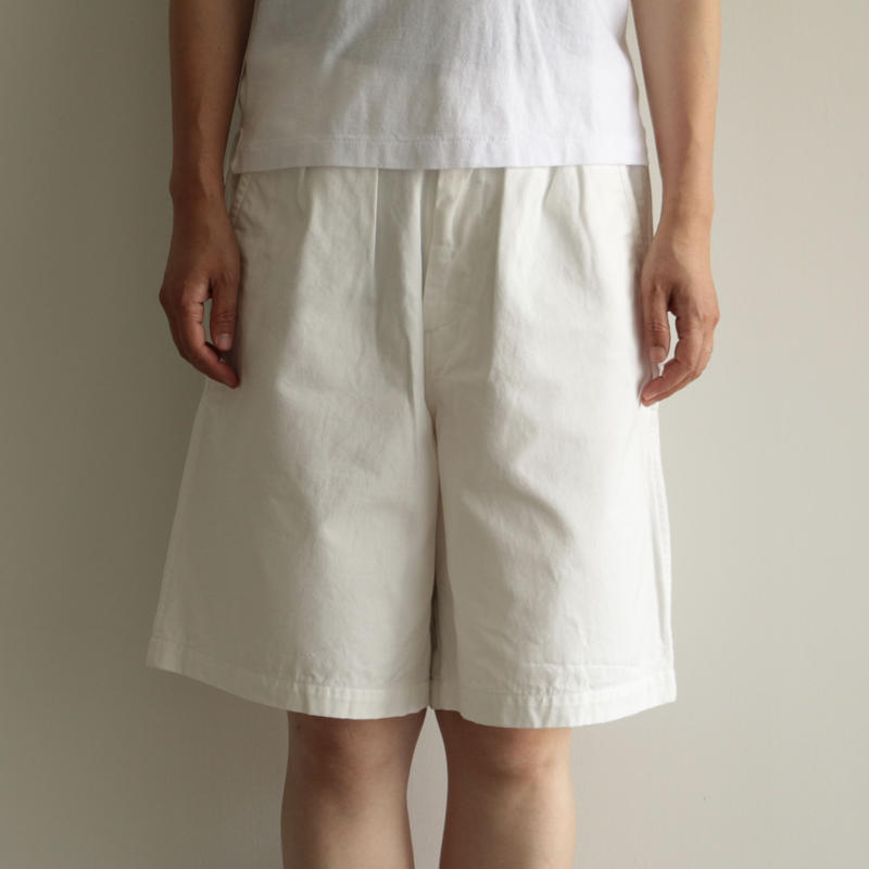 Charpentier de Vaisseau/Tuck Short Pants(Lady's/white)