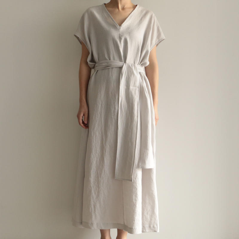 COSMIC WONDER /  Light linen ancient dress(lady's/ L.GRAY)